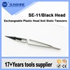 Smart Exchangeable Head Girl Shaped Tweezers With Plastic Anti Static Tips For Mobile Repair Tools