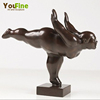 Famous Metal Bronze Fat Lady Yoga Sculpture