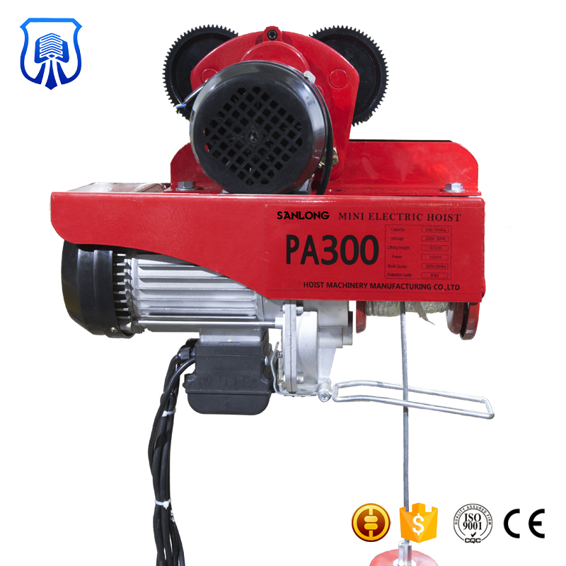 China Manufacturer crane pa400b electric wire rope hoist 500kg