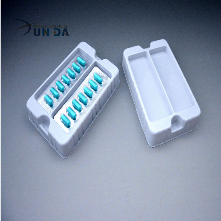 Transparent Plastic Packaging Tray For Syringe With Dividers