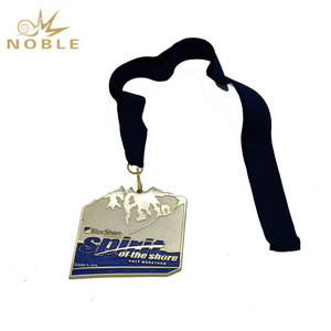 Honor Medals Golden Marathon Award Medal Custom