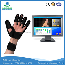 Intelligent medical electronic physiotherapy device for finger and wrist training with funny computer game