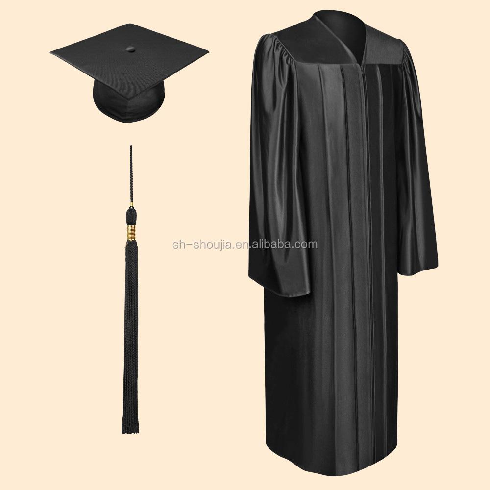 Matte Black Bachelor graduation Cap and Gown, graduation cap and ...