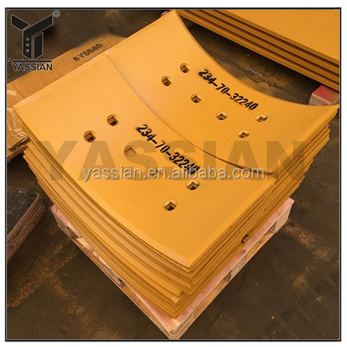 High Carbon Steel Curved End Bits Motor grader Blades End Bits for Mining Industry