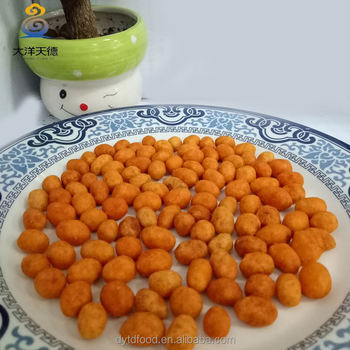 top quality sesame coated spicy snack peanuts