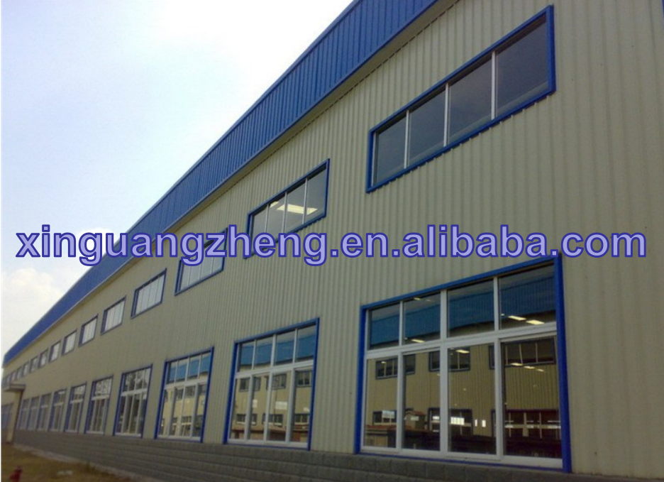 pre-engineering prefabricated steel structure factory with staff dormitory, dining room, office