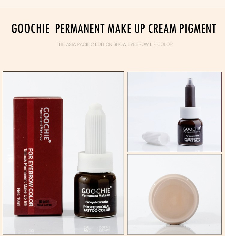 Goochie permanent makeup microblading pigment best tattoo ink