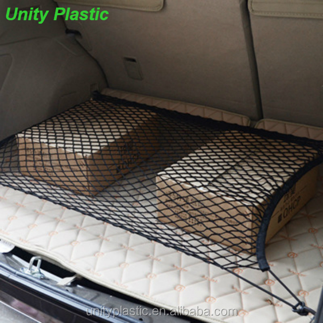 Large elasticated cargo net,elastic car trunk luggage net