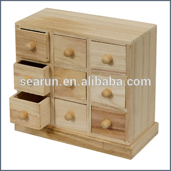 How To Make A Wooden Jewelry Box Beauteous Unfinished Wood Decorative Diy Jewellery Box With 60 Drawers Buy