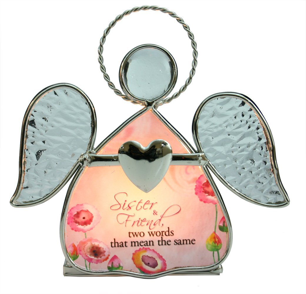 Buy Sister Gifts - Stained Glass Angel Candle Holder - Loving Sister ...