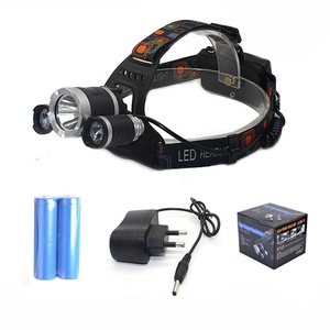 Zoomable T6 LED Waterproof Headlight 4 Modes Rechargeable 2*18650 Battery Emergency Head Lamp