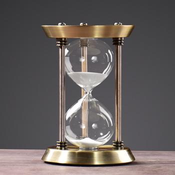 metal decorative sand timer hourglass desktop sand clock buy