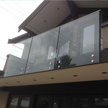 12mm tempered frameless glass handrail system patio rail exterior