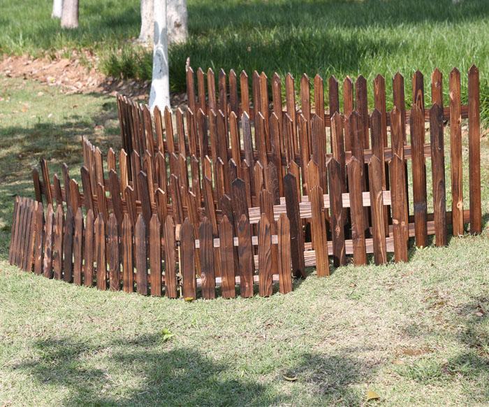 Hekwerk Hout Tuin : Carbide vlakte barn hout piket hekwerk voor tuin patio landschap