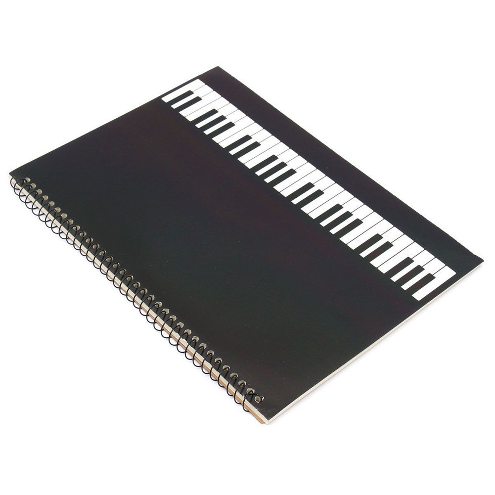 SODIAL(R) 50 Pages piano Manuscript Paper Stave Notation Notebook Spiral Bound