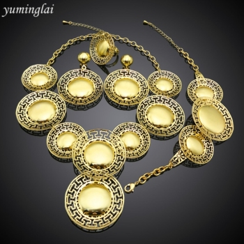 New model fashion bridesmaid jewelry sets australia with 24k gold dubai plated