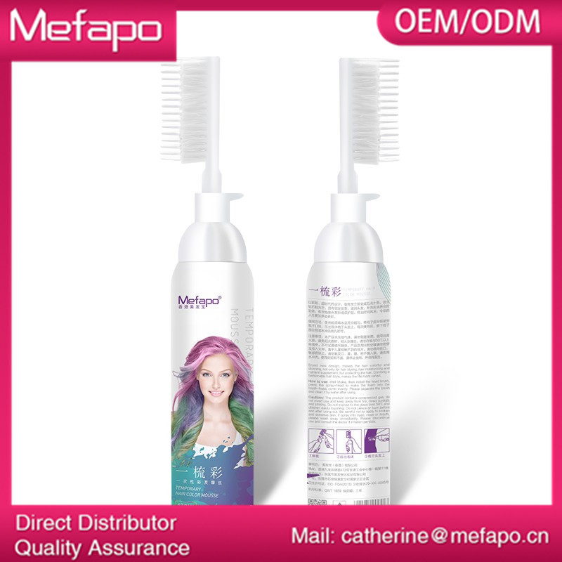 Oem Hair Dye Temporary Hair Color Mousse Buy Hair Color Mousse