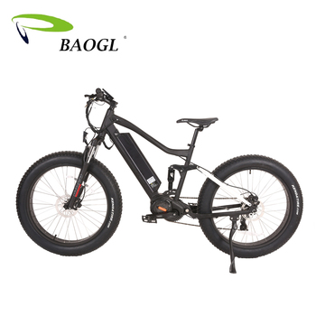 2018 new best ebike full suspension MOZO suspension fork Bafang Ultra G510  48V 1000W BBS03 mid drive mountain electric fat bike, View full suspension