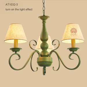 zhongshan american country style green color small simple chandelier for dining room
