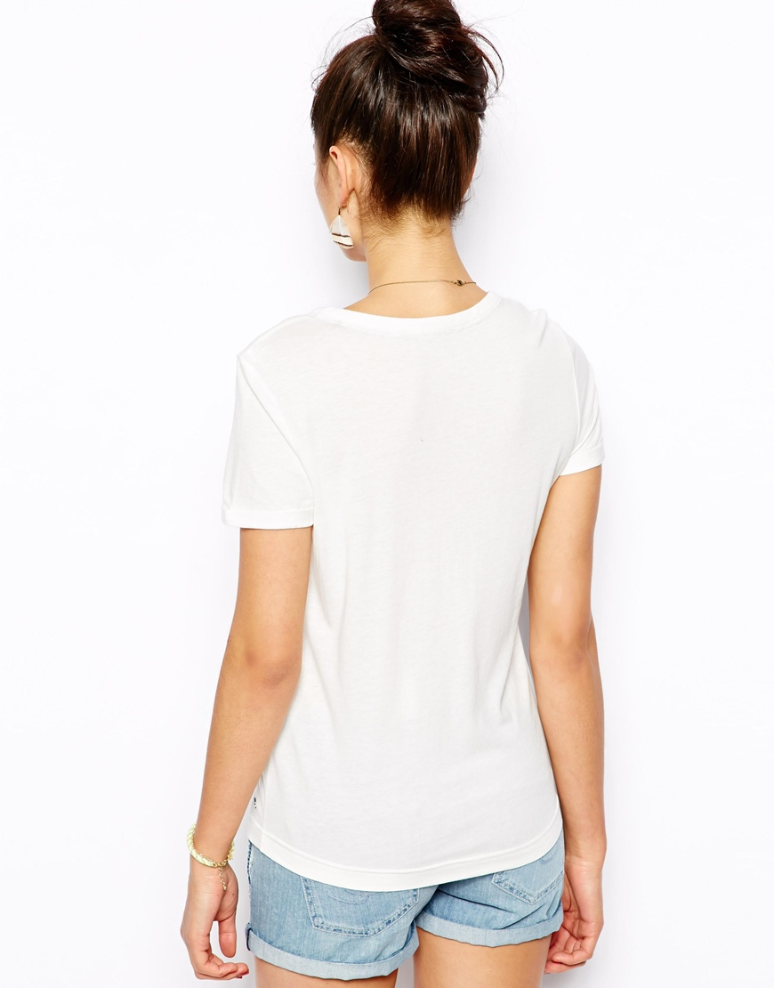 Women Pocket Plain White T Shirts With Buttons Buy Plain