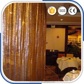 Gold Metallic Foil Fringe Curtain