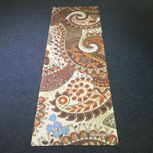 Natural rubber Non slip custom Yoga Mat, Private Label custom print Yoga mat with carrying strap