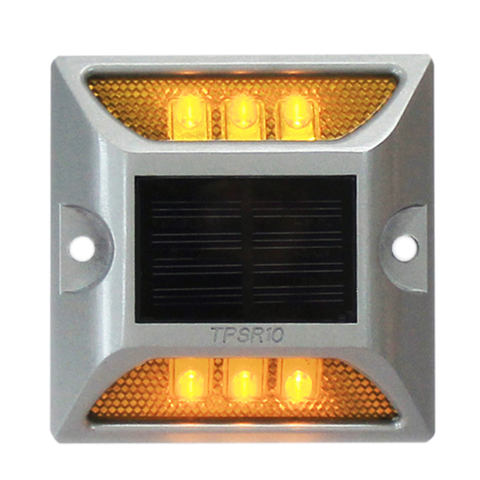 Road Stud 3m Reflector Steady Mode White Led Road Signs Aluminum Housing Solar Power Road Stud