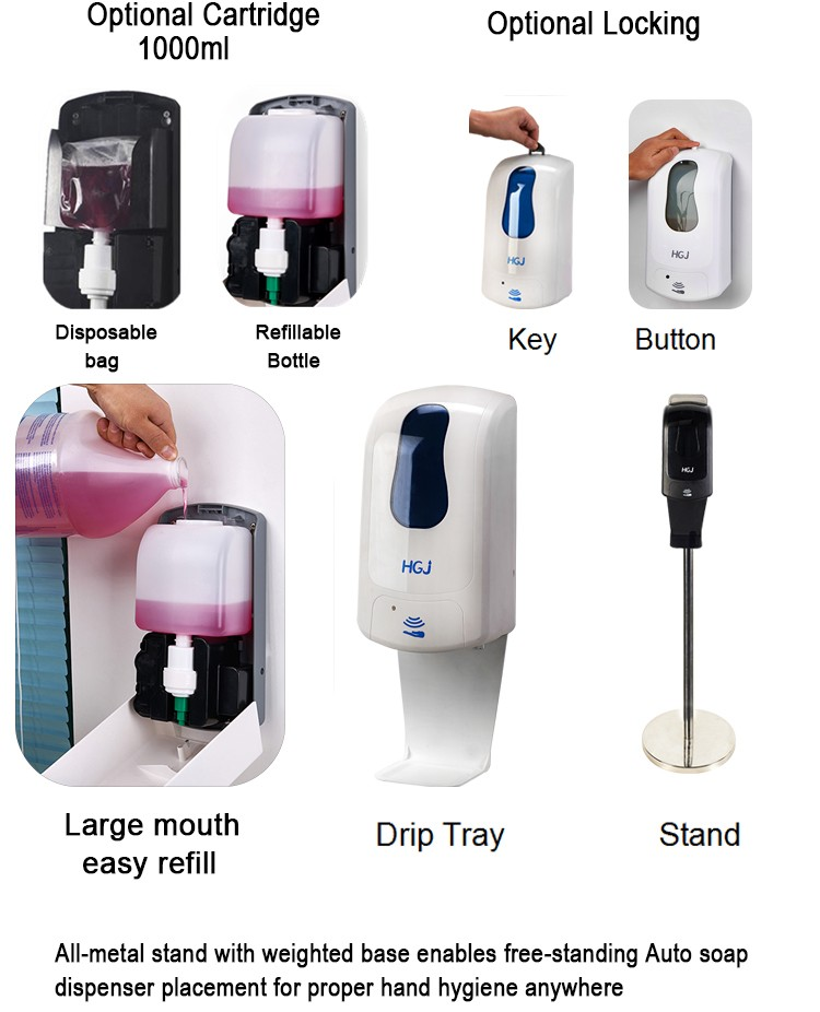 Automatic soap dispenser treatment pump and bottle