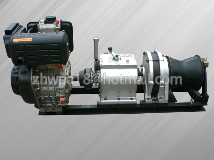 High Speed Cable Pulling Winch Twin Capstan Petrol Winch