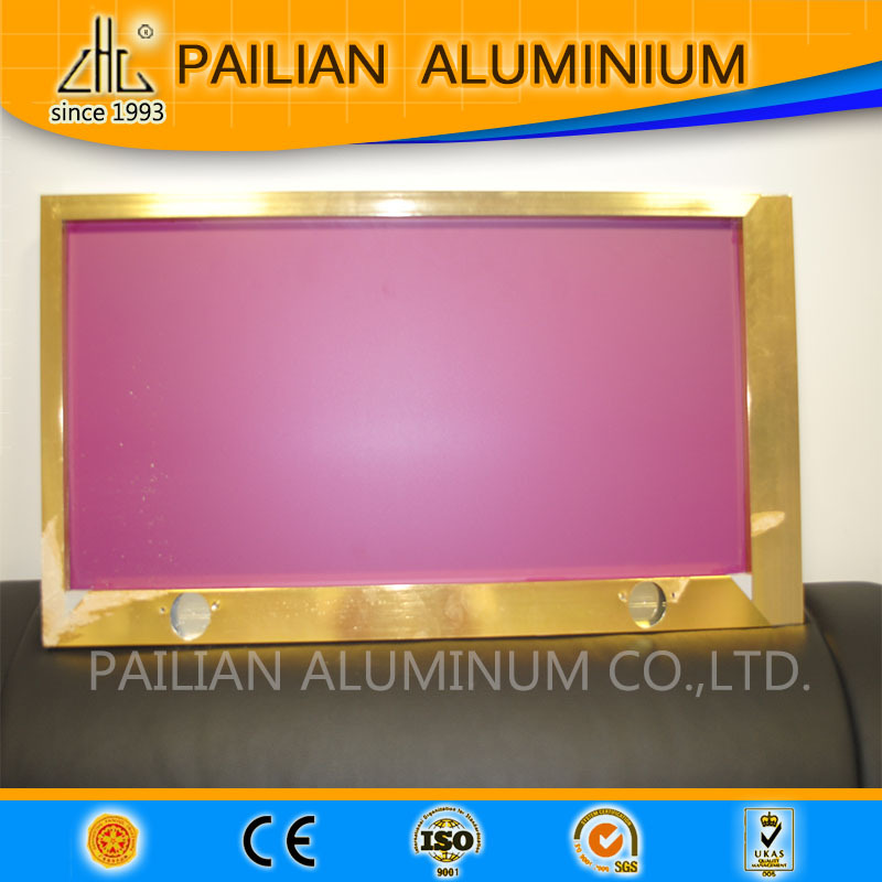 2015 price list for aluminum profile for kitchen cabinet,polishing furniture frame,golden aluminium kitchen cabinet doors