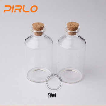 43cdfef94768 50ml Vials Clear Miniature Glass Bottle With Corks Stopper Hot Sale Small  Empty Glass Vial With Wooden Cork Stopper - Buy Glass Vials With Cork,Cork  ...