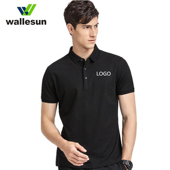 wholesale customized print 100% cotton short sleeve custom men polo shirts with emboridery logo plain golf polo blank t shirt