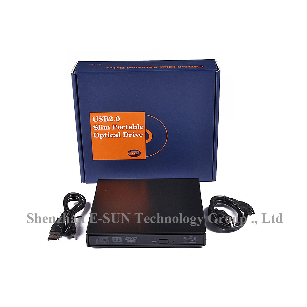 E-Sun USB 2.0 optical drive External blu-ray reader BLU RAY Combo dvd writer