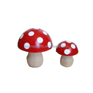 Mushroom novelty clay garden ornaments