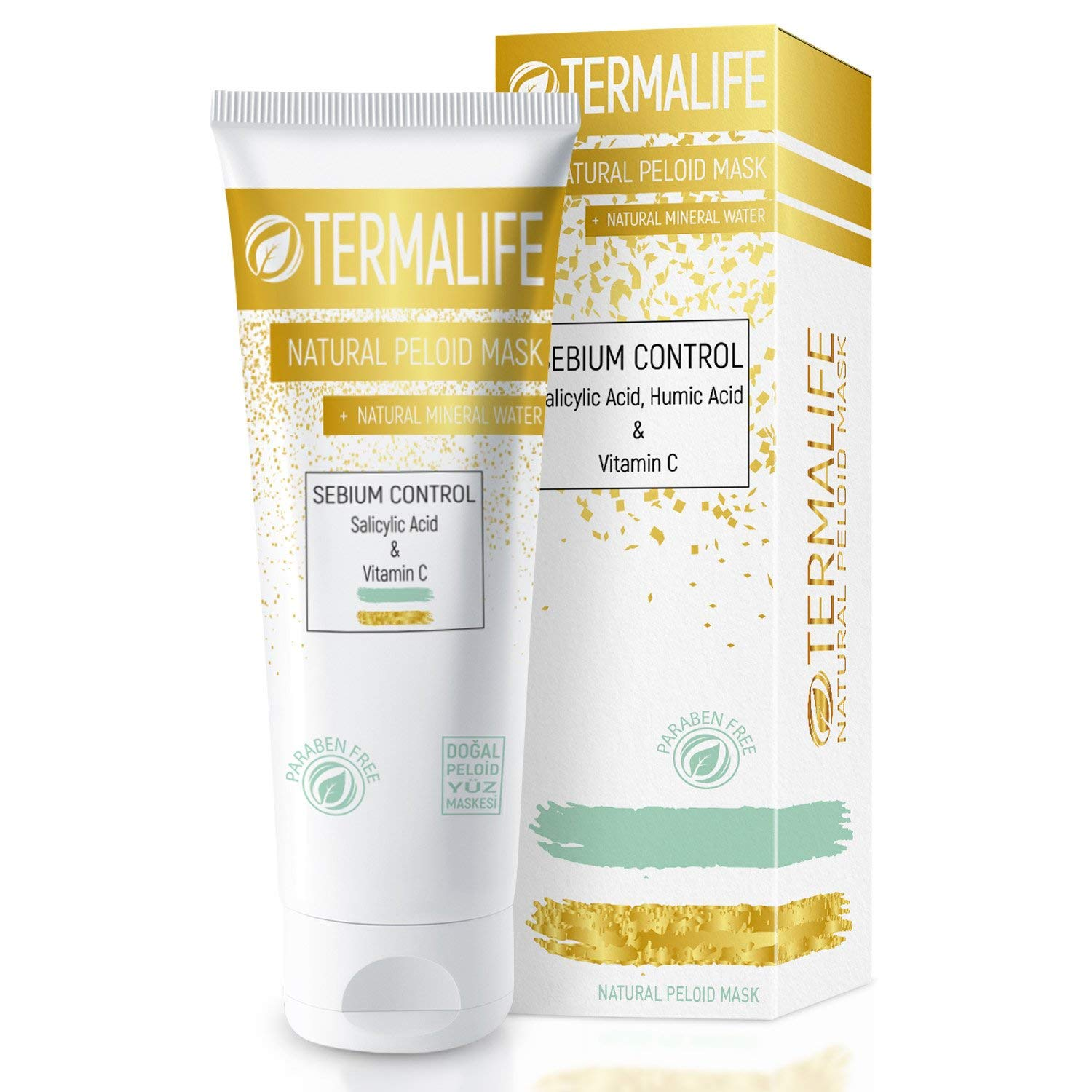 Termalife Peloid Face Mask | 5.1 oz Natural Facial Mask For Deep Pore Cleansing | Treatment of Acne, Best Facial Pore Minimizer, Reduce Wrinkles, Natural Cleaning and Nourishing Face (Oily Skins)