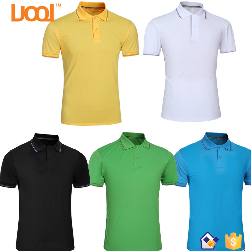 Most Popular 2017 Cheap Custom Culture/Advertising Business Clothing 220Gsm Colorful Blank Plain Mens Polo Shirt