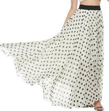 Latest fashion design ladies skirts Bohemia beach long chiffon woman maxi skirt
