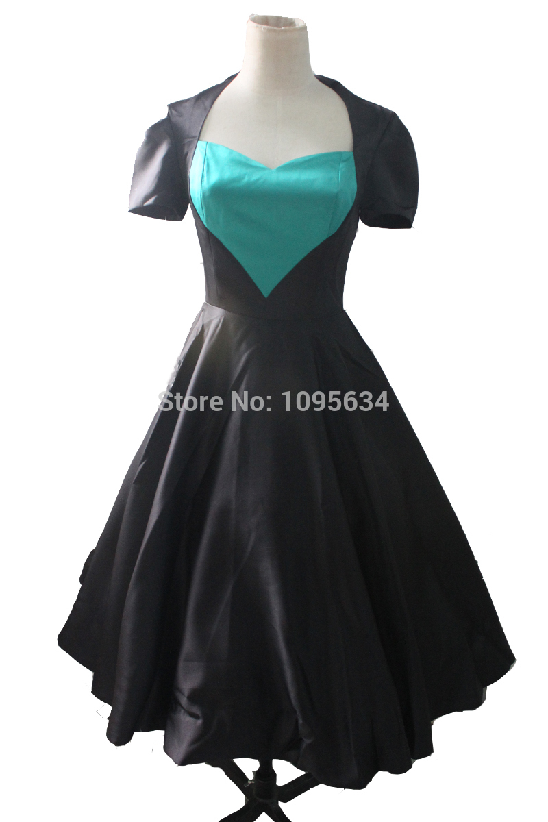 Get Quotations · free shipping ladies fashion short sleeve black 1950s  rockabilly dress pin up plus size S- 5bf831599943