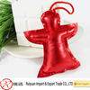 Red Stuffed angel shape Xmas tree hanging ornament for promotion