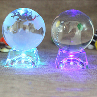 Crystal ball, no music base, light emitting LED