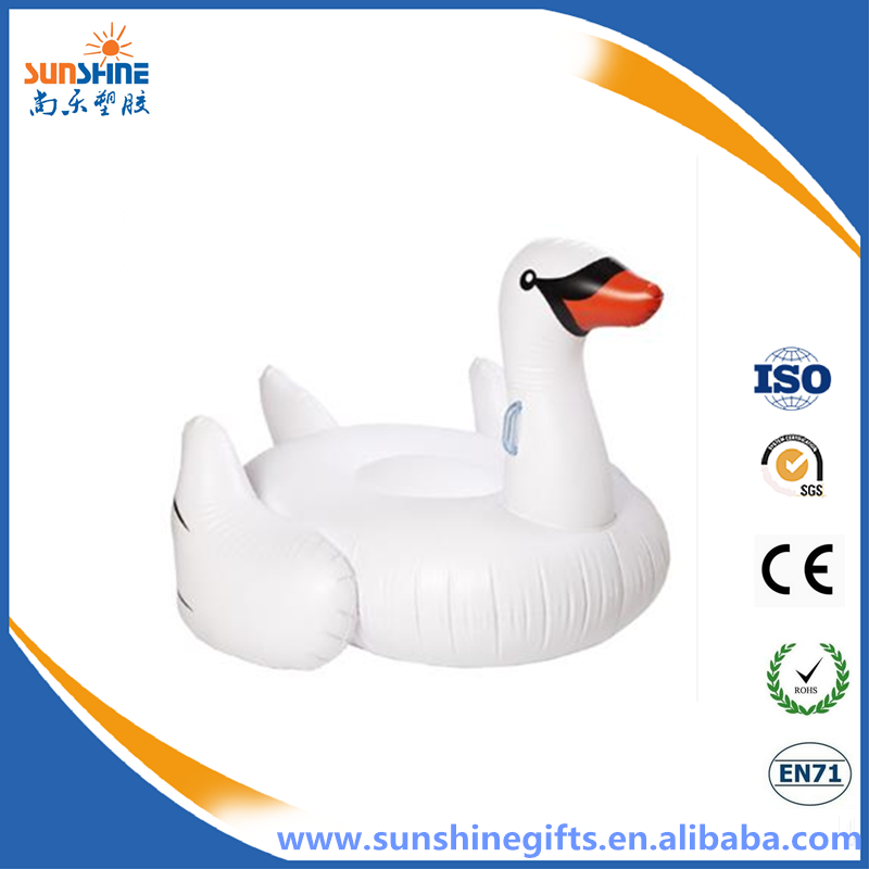 Inflatable giant floating swan swimming pool swan inflatable swan factory