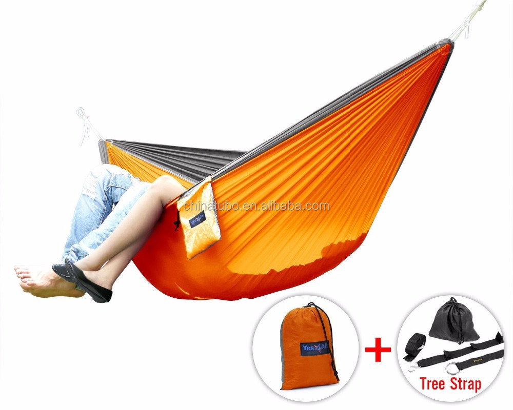 Camping Hammock- Easy Hanging Double parachute Hammock with Tree Straps&Carabiners