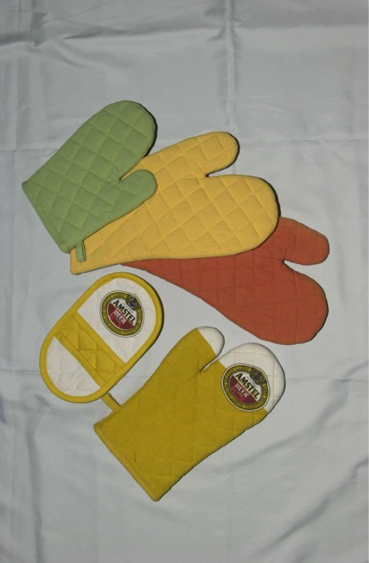 India Made Printed Cotton Oven Glove With Company Log Home