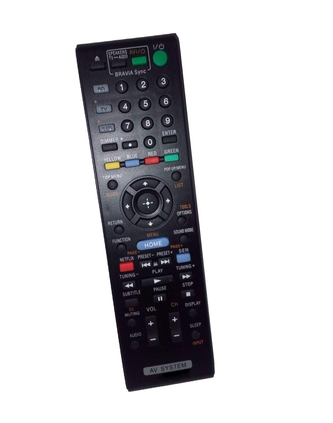 Replaced Remote Control Compatible for Sony HBD-N890W RM-ADP070 BDVN890W/Z BDV-E980W BDVN890W BD Blu-ray Disc DVD Home Theater AV System