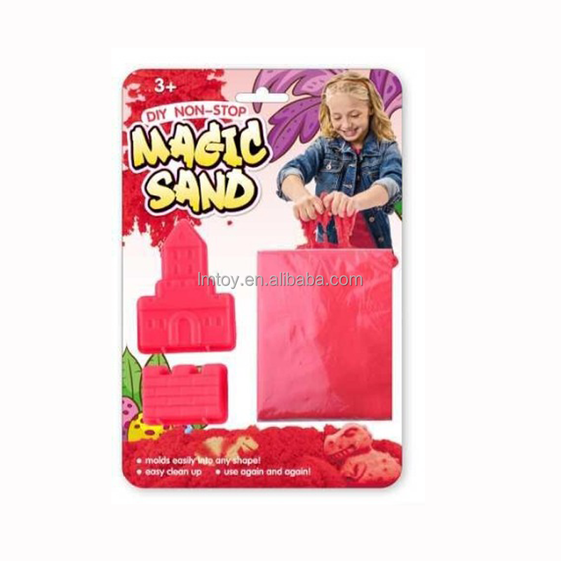 Hotsale Magnetic Red Sand,Play Soft Red Sand Set