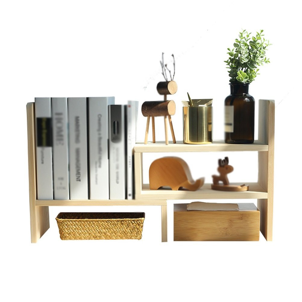 AJZGF Solid wood desk combination bookshelf table small shelves multi-storey office students small children's bookcases Shelf