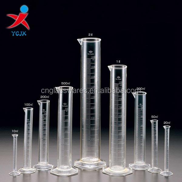 גודל מותאם אישית ברור בוגר כוס מדידת צילינדר-מבחנה-מספר