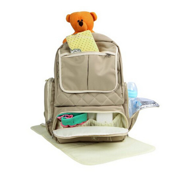 large soft polyester baby diaper backpack bag for mom and dad buy backpack. Black Bedroom Furniture Sets. Home Design Ideas