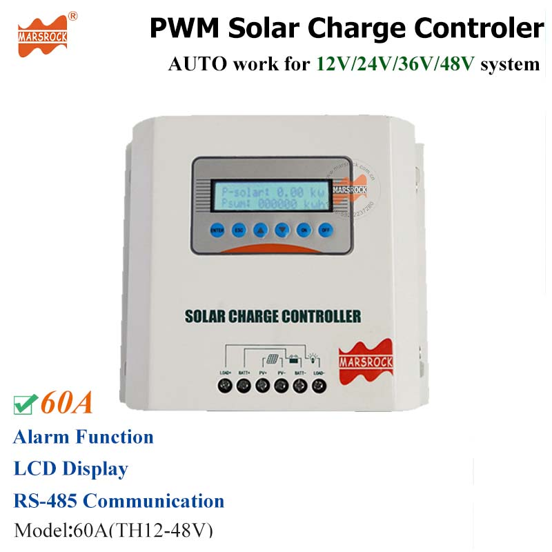 Accessories & Parts Consumer Electronics Solar Charge Controller 12v 24v 48v 40a 50a 60a Automatic Photovoltaic Solar Panel Battery Street Light Lcd Screen Display Pwm