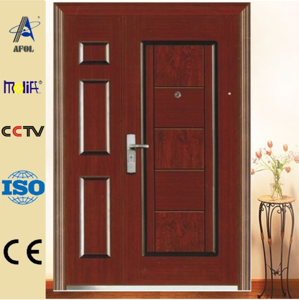 Commercial Security Doors one-half security steel door, one-half security steel door